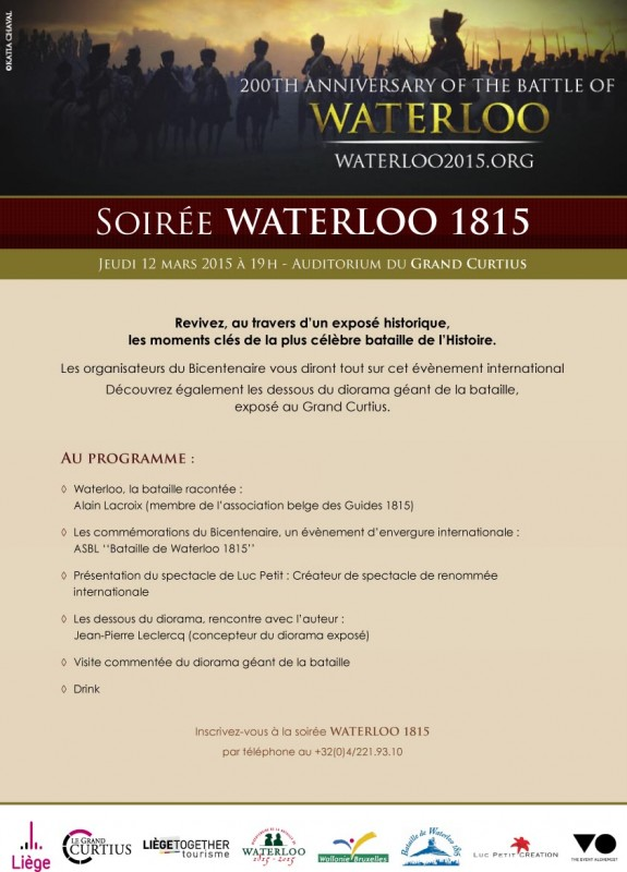 Invitation soiree Waterloo affiche A3